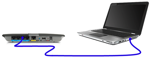 Connect computer to secondary router