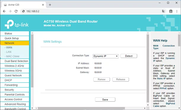 Connection type Dynamic IP in secondary router