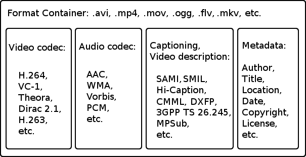 Container and codec