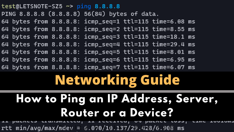 How to Ping an IP Address Server Router or a Device