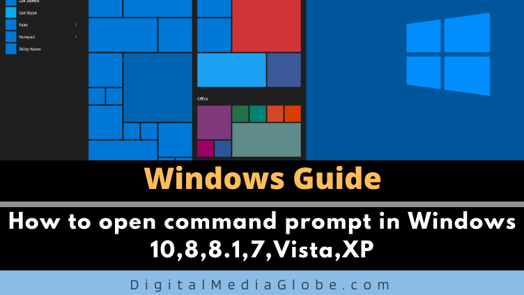 How to open command prompt in Windows 1088.17VistaXP