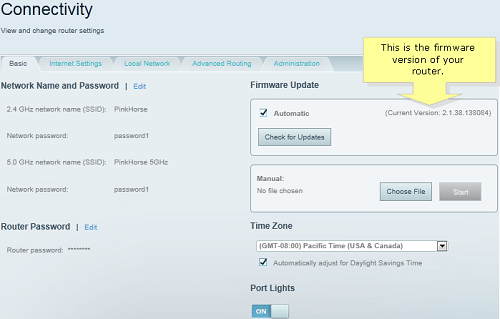 Linksys router firmware update