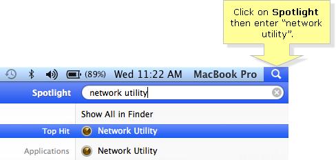 Mac OS spotlight