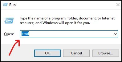 Windows 10 Command Prompt using RUN Box