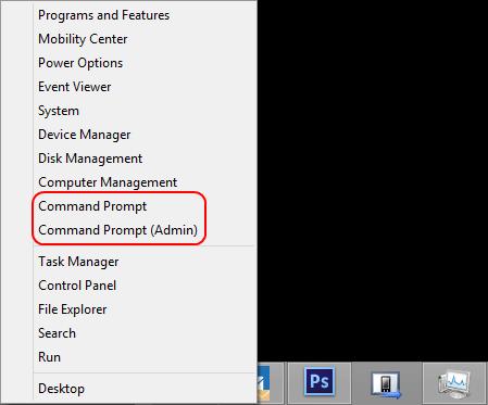 Windows 8 Command Prompt admin