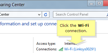 Windows 8 Wi Fi connection