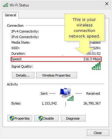Windows 8 wireless connection network speed