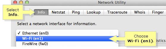 Windows XP network utility