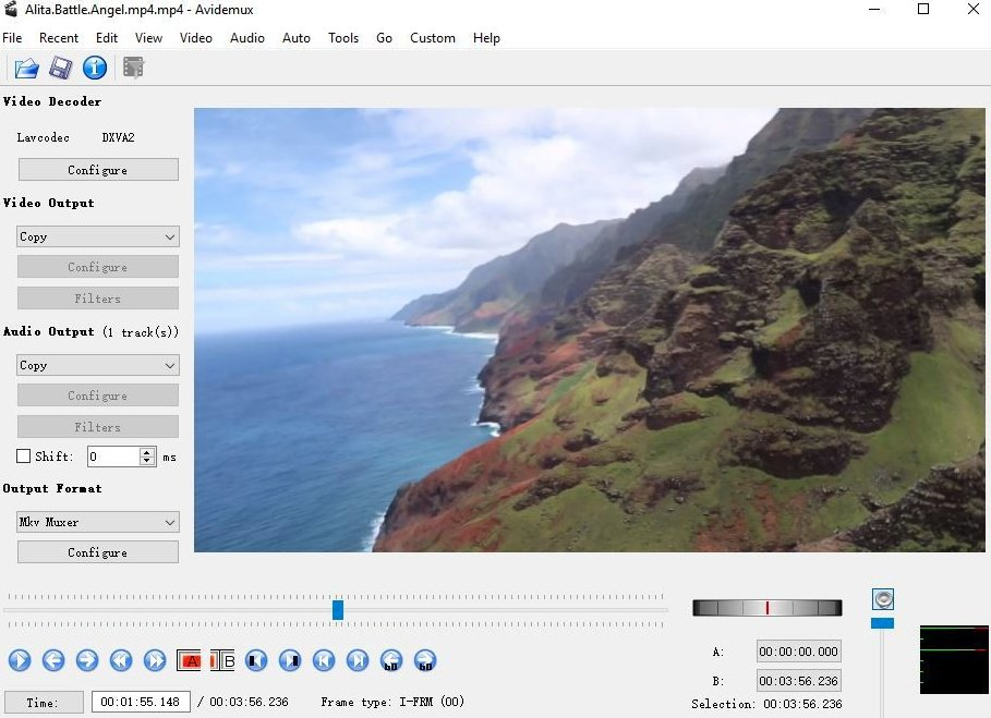 avidemux Xvid video editor