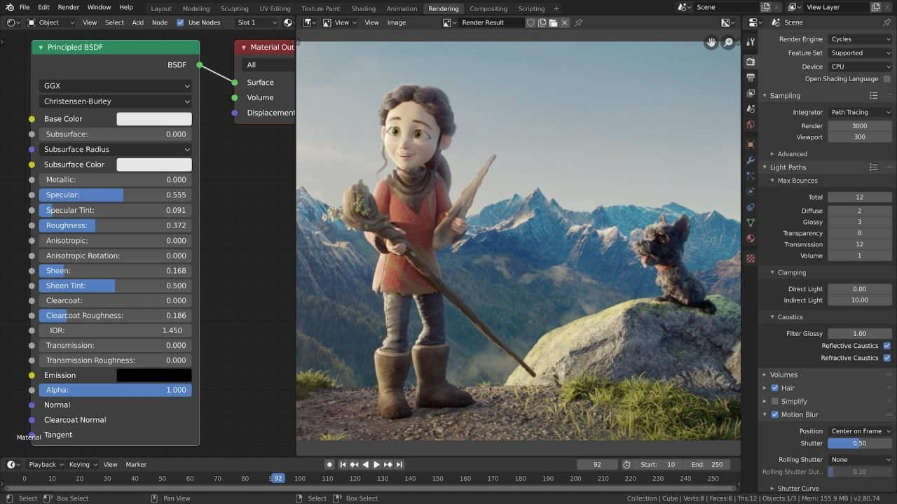 blender Xvid video editing software