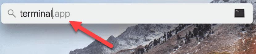 launch spotlight in Mac OS