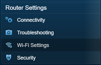 Linksys Wi Fi settings