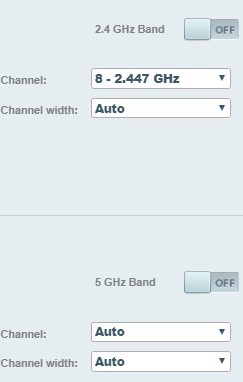 Linksys toggle off