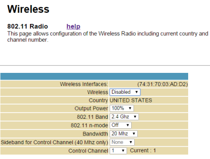 Motorola disable wireless