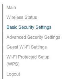 Verizon fios gateway basic security settings