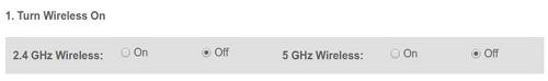 Verizon fios gateway turn off wireless