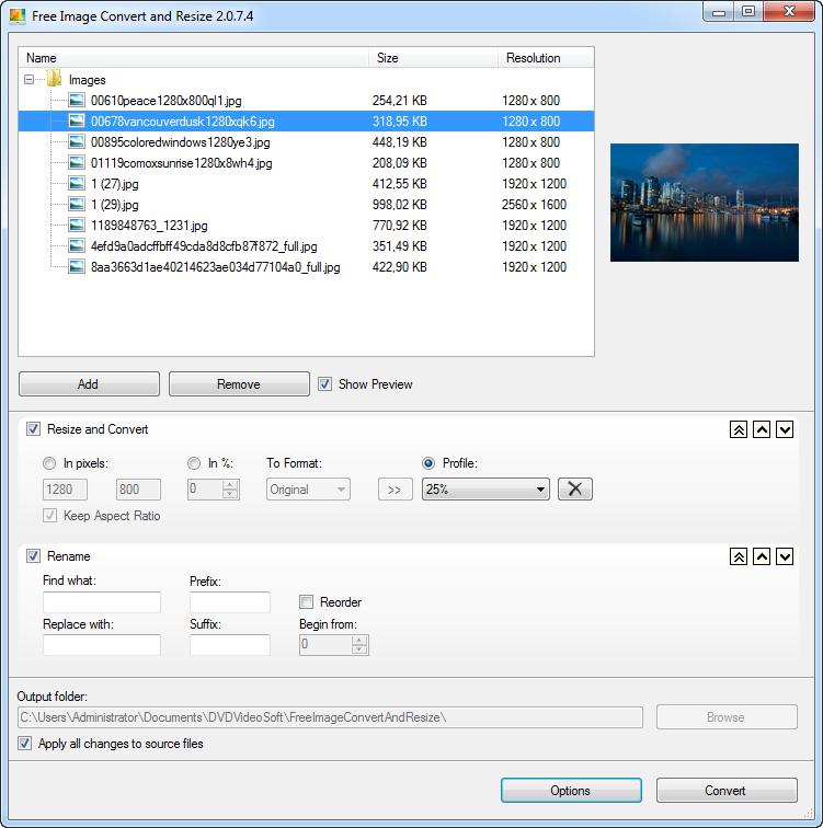 DVDVideoSoft Image Converter and Resize for Windows DigitalMediaGlobe