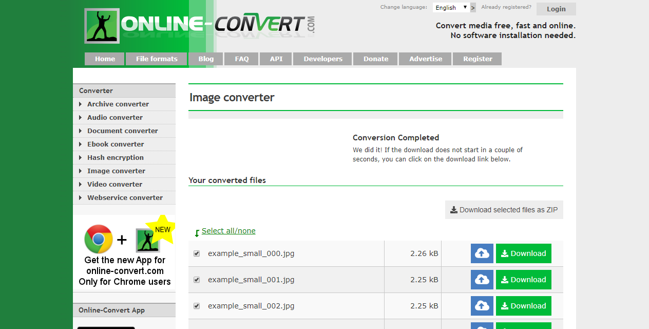 Online.Convert.com image converter online