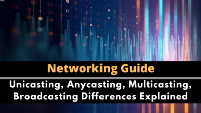 Unicasting, Anycasting, Multicasting, Broadcasting Explained