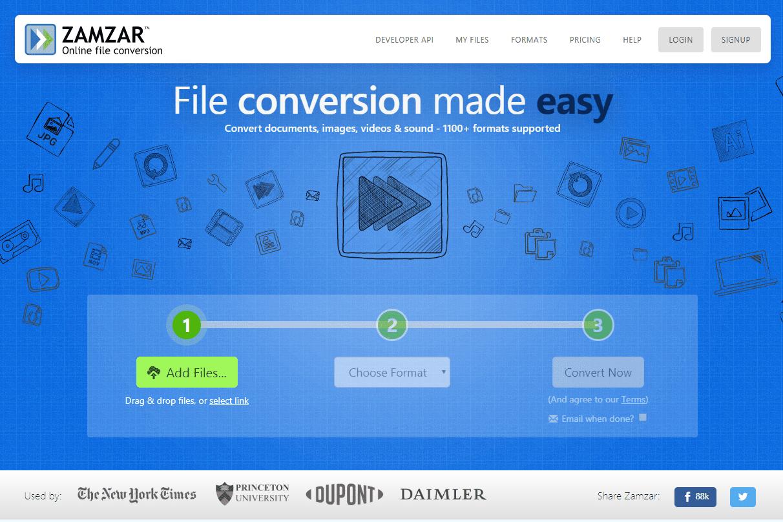 Zamzar Online Image Converter program